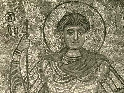 GALASSI MOSCA 32064 Museo Tetriakoff dal convento diSan michele a Kiev il beato Demetrio Solansk fine sec XI iniz XII